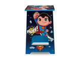Delta Children Super Friends Kids Wood Desk and Chair Set, Superman Side View