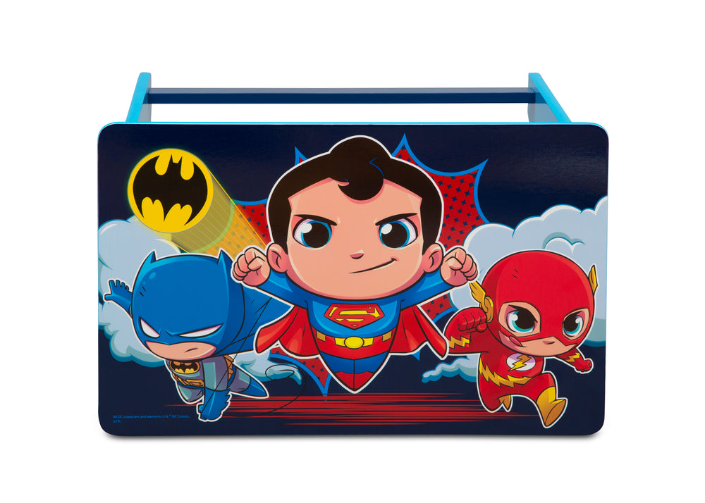 Delta Children Super Friends Kids Wood Desk and Chair Set, Desk Top View