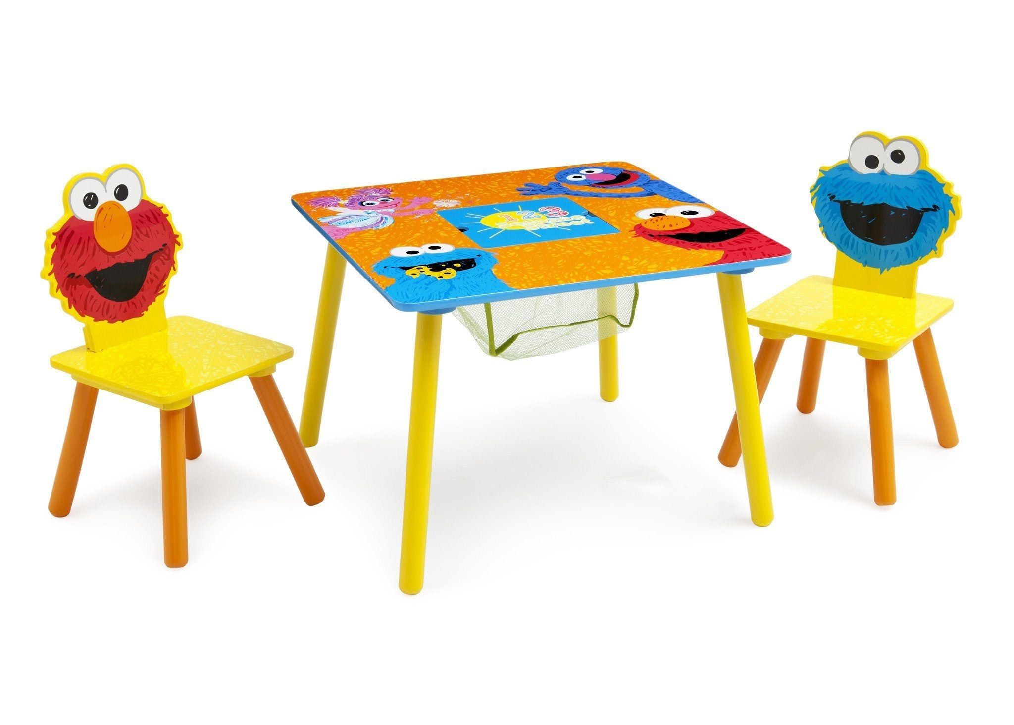 Delta Children Sesame Street Puzzle Table U0026 Chair Set Right Side View A1a  ...