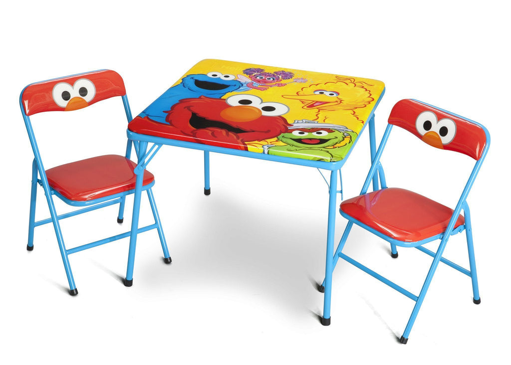 kids folding table sesame metal folding table amp chair set delta children 10118