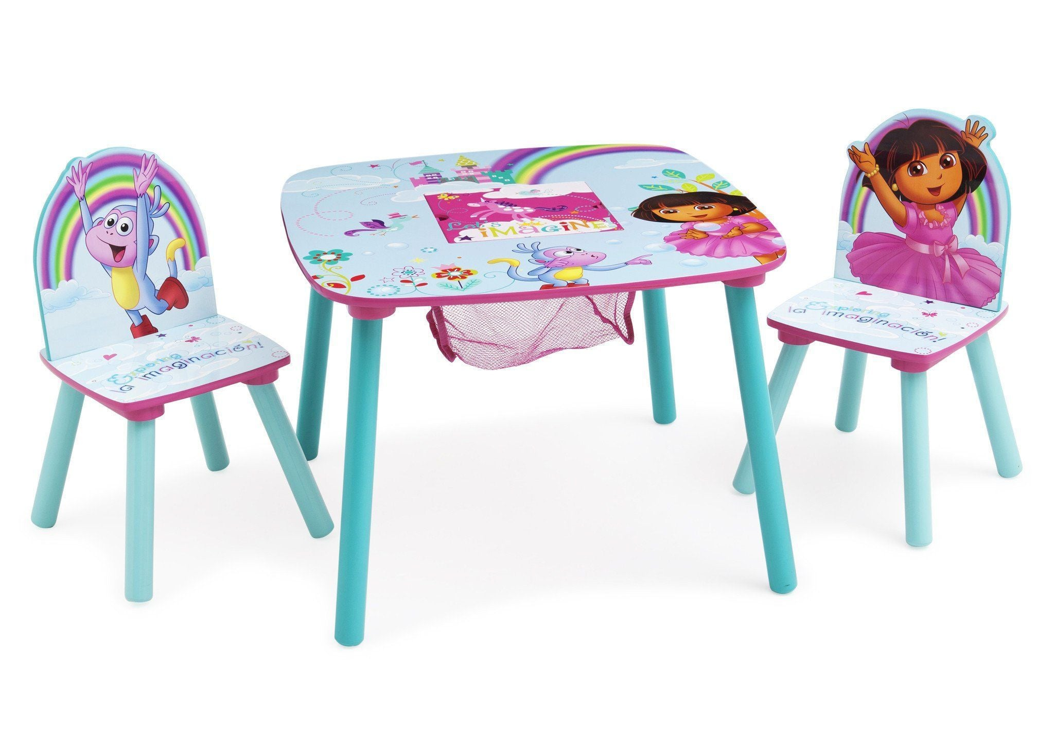 Delta Children Dora Table & Chairs Right Side View a1a Dora The Explorer (1102)