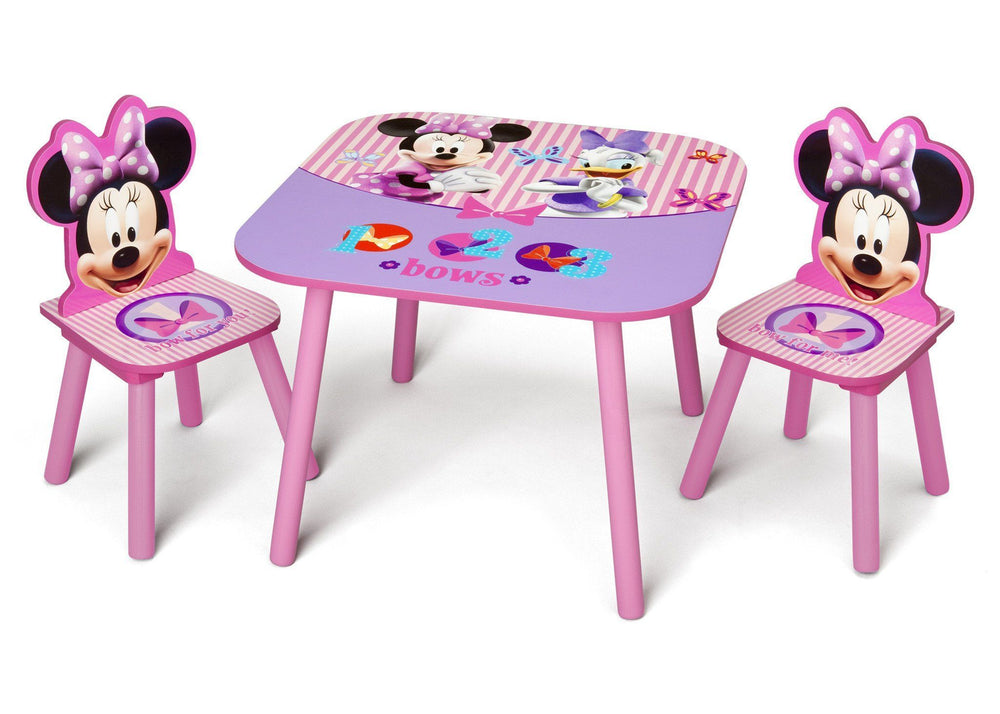 Delta Children Minnie Table and Chair Set Left Side View a2a