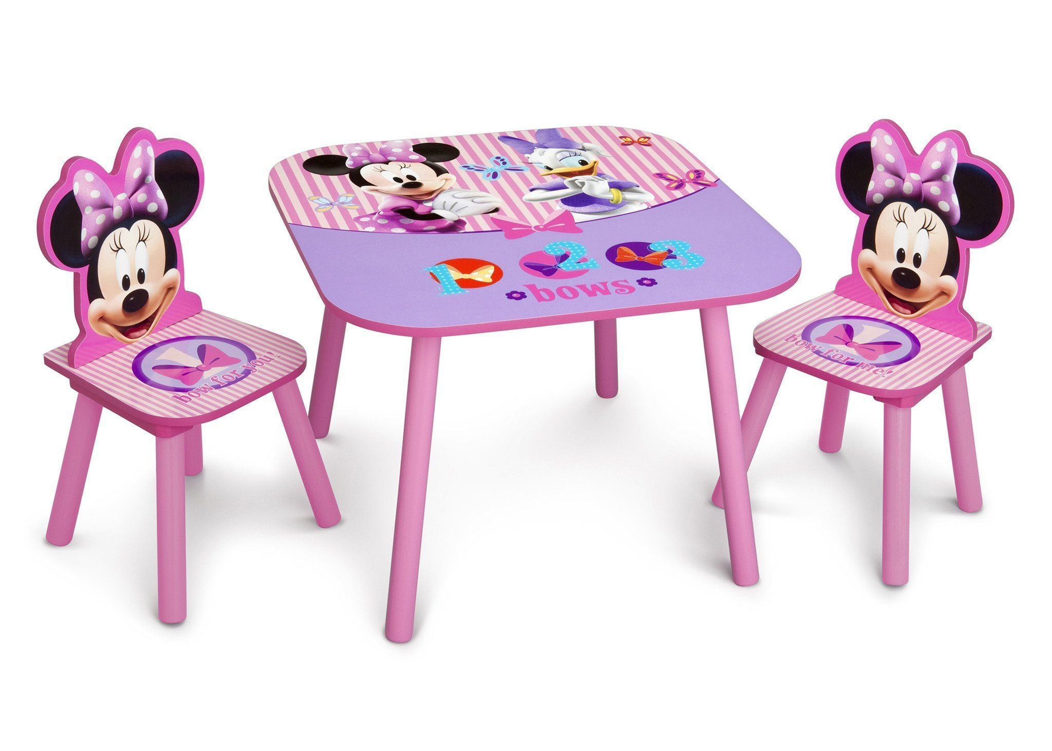 Delta Children Minnie Table and Chair Set Right Side View a1a