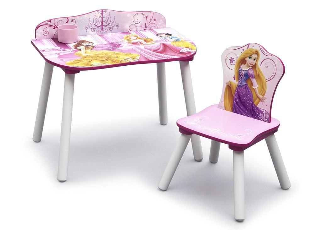 Delta Children Princess Desk & Chair Set with Chair on Right a1a