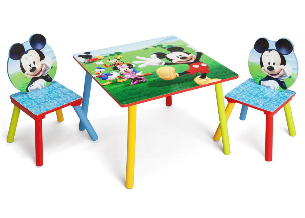 Delta Children Mickey Mouse Table & Chair Set Right Side View a1a