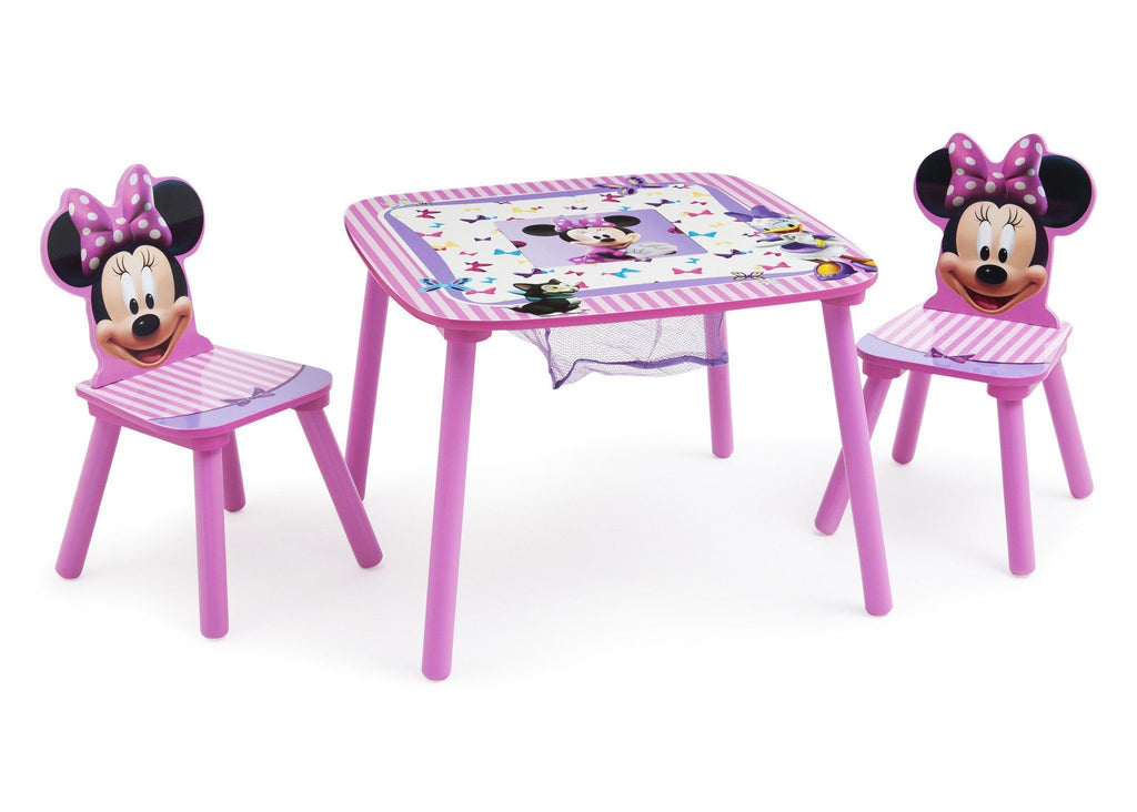 Delta Children Minnie Mouse Table and Chair Set with Storage Right View a2a  sc 1 st  Delta Children & Disney Minnie Mouse Toddler Table u0026 Chair Set | Delta Children
