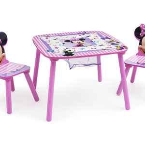 Delta Children Minnie Mouse Table and Chair Set with Storage, Right View a2a