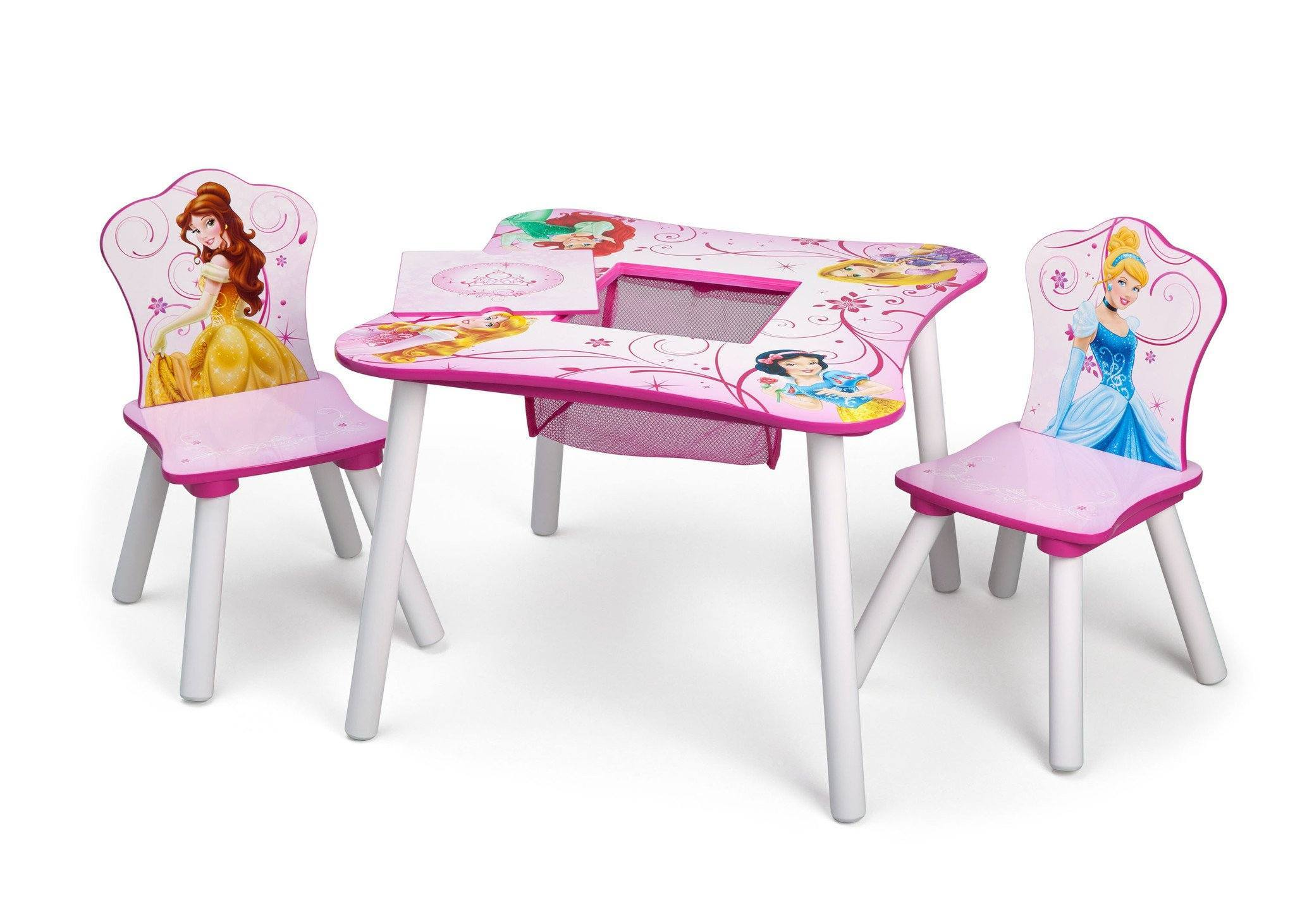 ... Delta Children Princess Table and Chair Set with Storage Left View a2a  sc 1 st  Delta Children & Princess Table \u0026 Chair Set with Storage | Delta Children