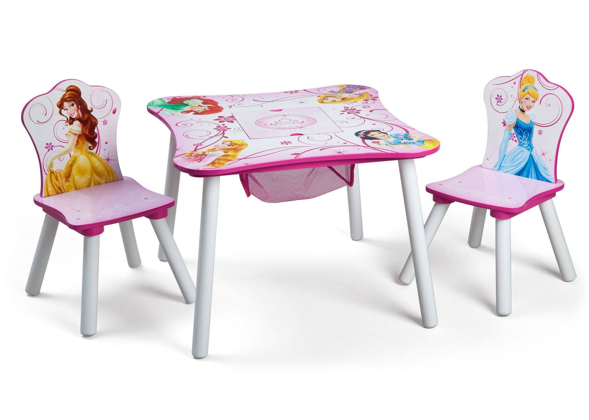 Delta Children  Princess Table and Chair Set with Storage Right View a1a