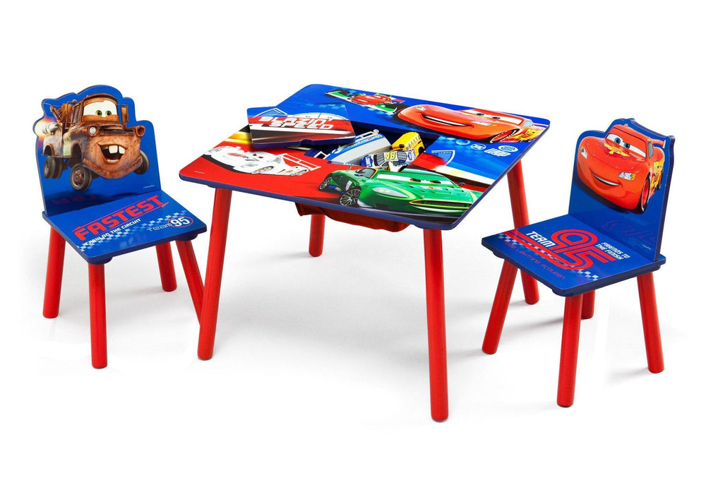 Delta Children Cars Table and Chair Set Toykeep Left View with Props a2a
