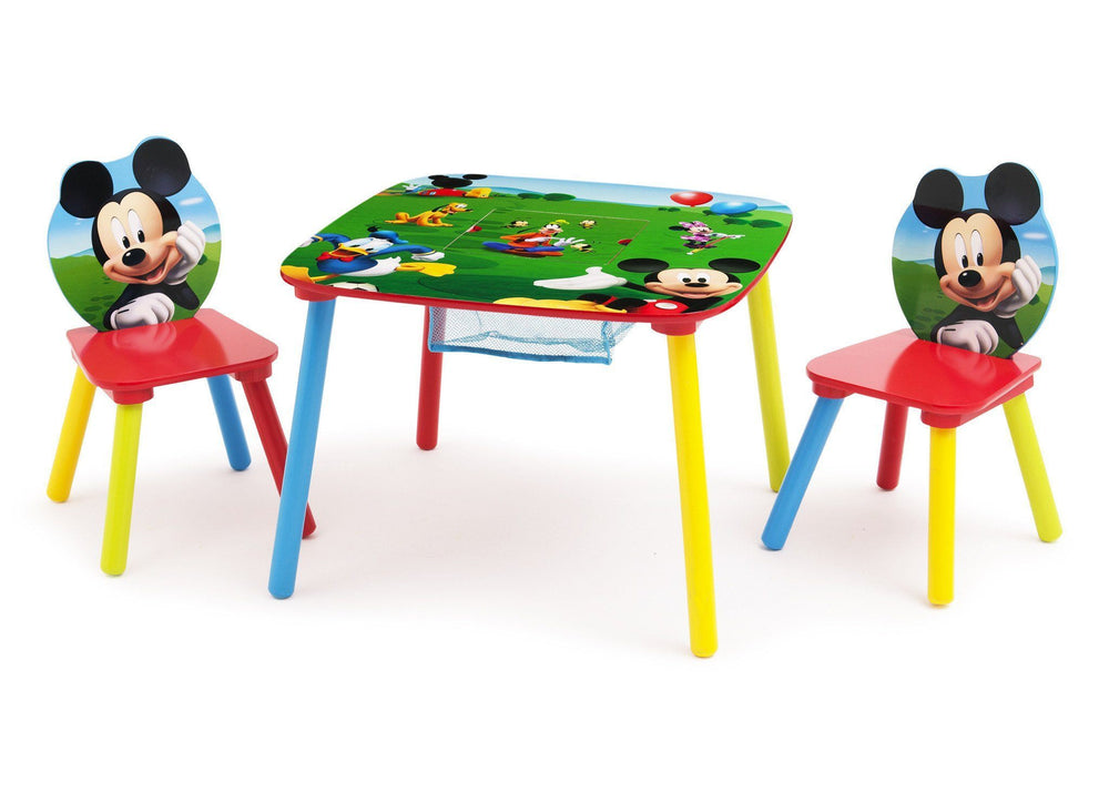Delta Children Mickey Mouse Table and Chair with Storage Left Side View
