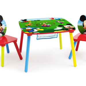 Delta Children Mickey Mouse Table and Chair with Storage Right Side View a1a