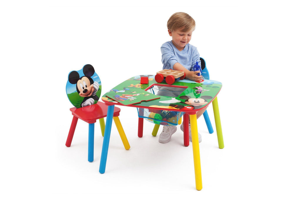 Delta Children Mickey Mouse Table and Chair with Storage in Setting a2a