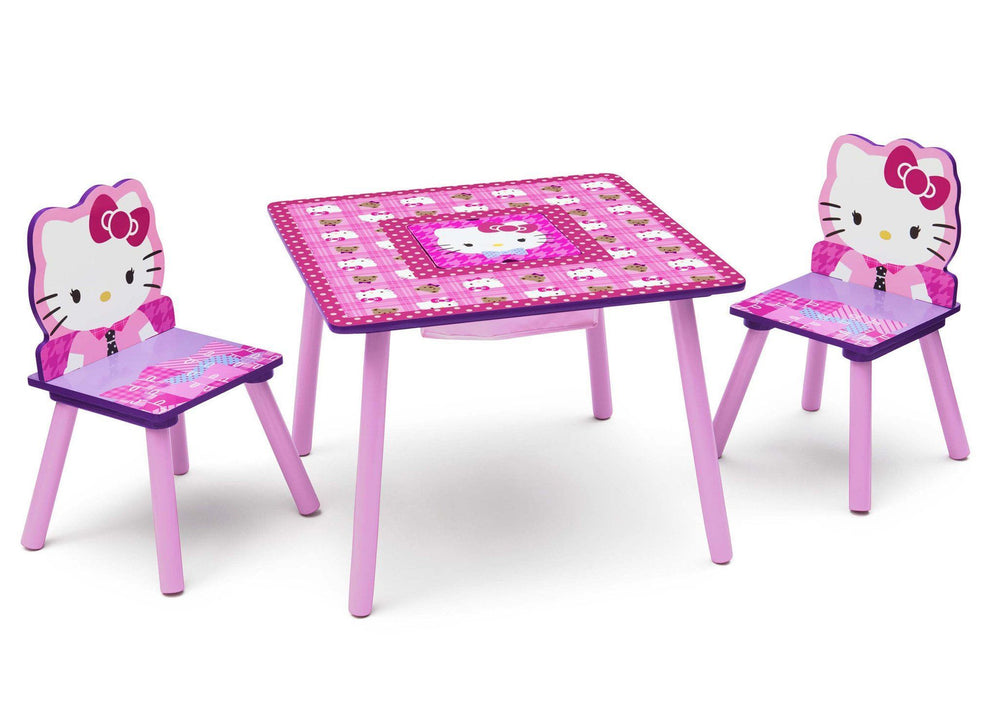 Delta Children Hello Kitty Table & Chair Set with Storage Right Side View
