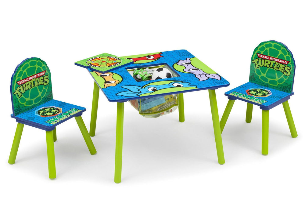 Delta Children Teenage Mutant Ninja Turtles Table & Chair Set w/ Storage, Right Side View with Storage