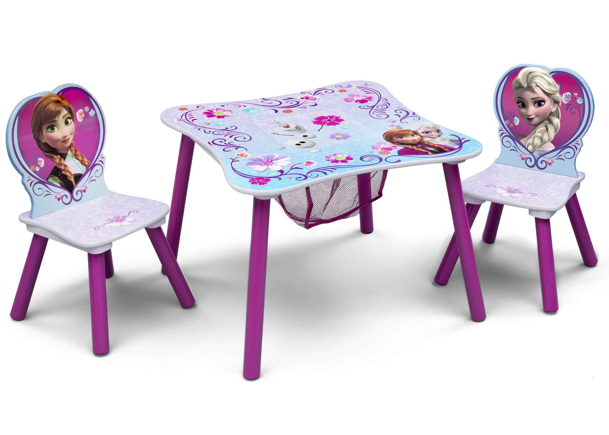 Delta Children Frozen Table & Chair Set with Storage Right Side View a1a Frozen (1089)