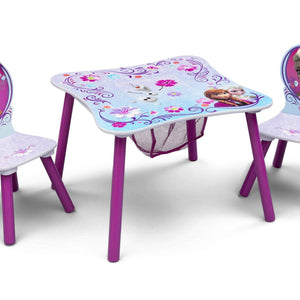 Delta Children Frozen Table & Chair Set with Storage Right Side View a1a