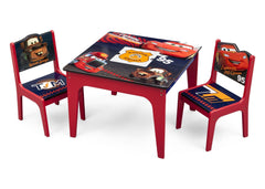 Delta Children Cars Deluxe Table and Chair with Storage, Left View a2a