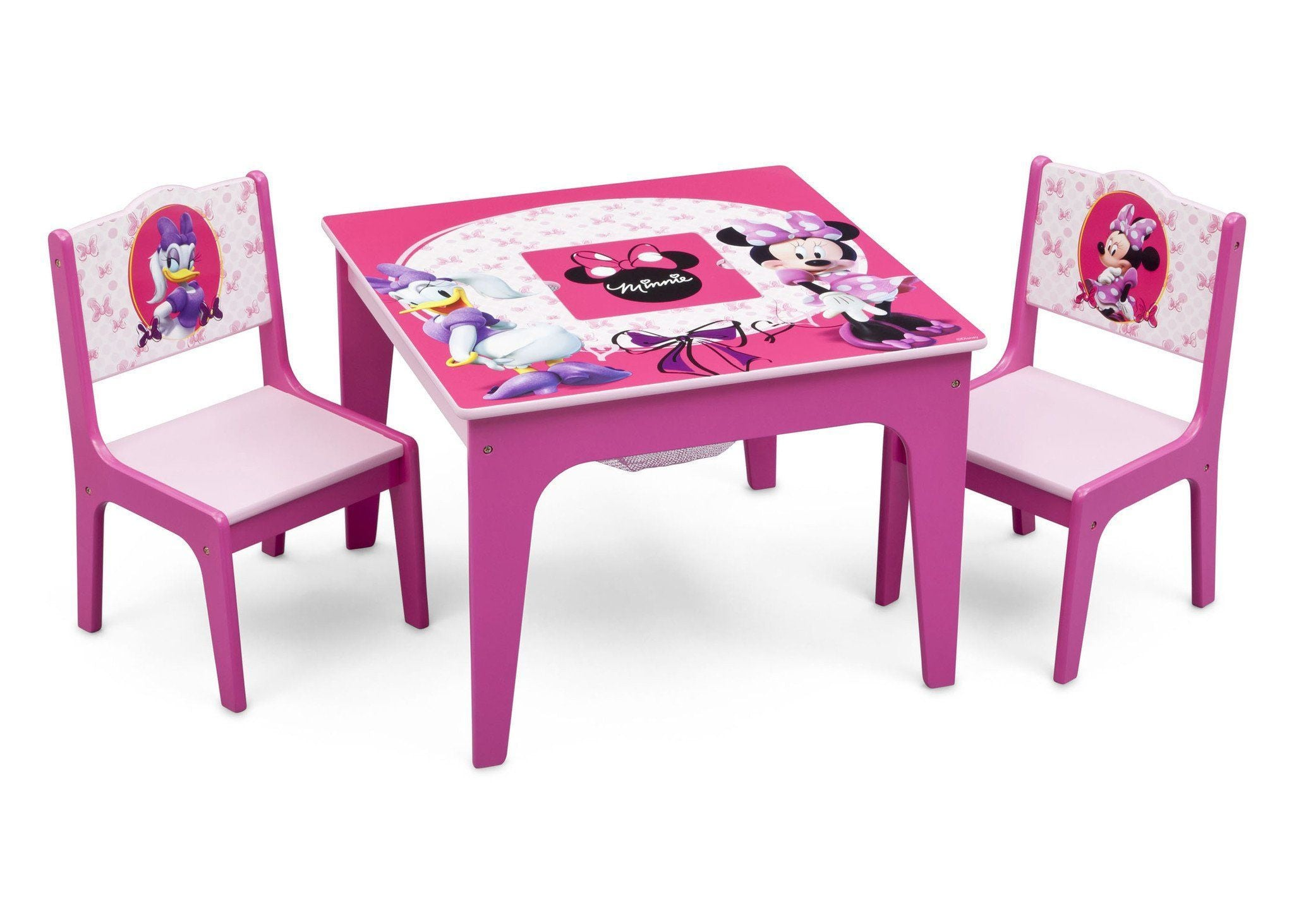 Delta Children Minnie Mouse Deluxe Table and Chair Set with Storage, Right View