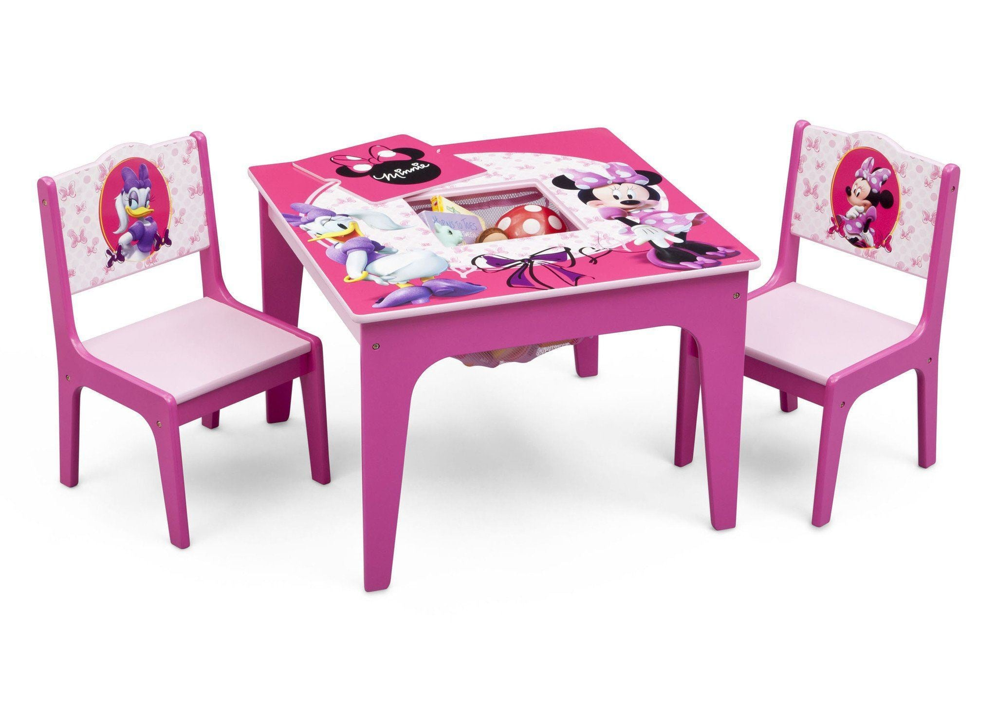 Delta Children Minnie Mouse Deluxe Table and Chair Set with Storage Right View with Props ...  sc 1 st  Delta Children & Minnie Mouse Deluxe Table u0026 Chair Set with Storage | Delta Children