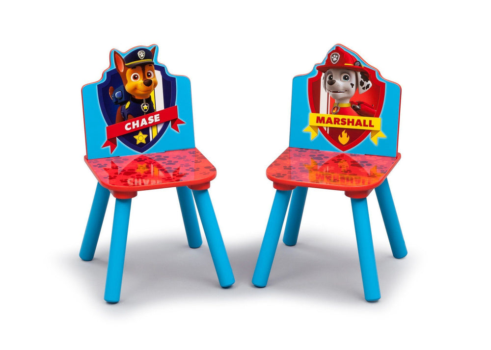 Delta Children PAW Patrol Table and Chair Set, Chairs Closeup