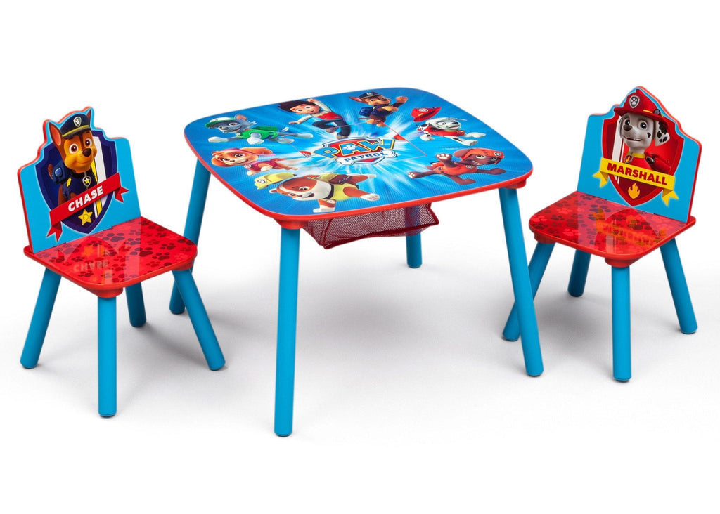 New Ben 10 Childrens Kids Toys Bedroom Storage Seat Stool: PAW Patrol Table & Chair Set With Storage