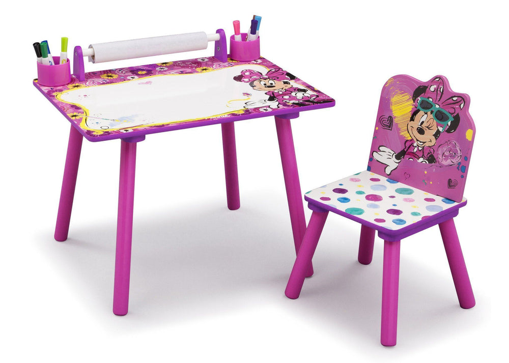 Delta Children Minnie Mouse Art Desk, Left View a1a