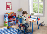 Delta Children PAW Patrol Art Desk, Room View with Props and Model a1a