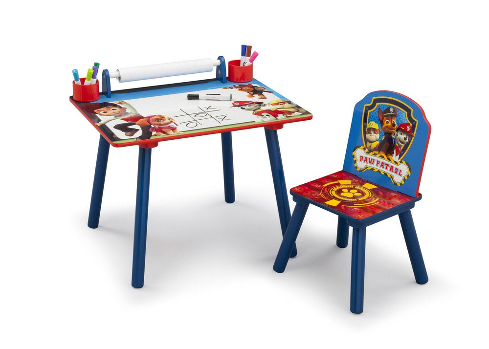 Delta Children PAW Patrol Art Desk, Right View with Props