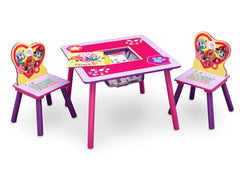 PAW Patrol, Skye & Everest Table and Chair Set with Storage, Right View with Props a2a
