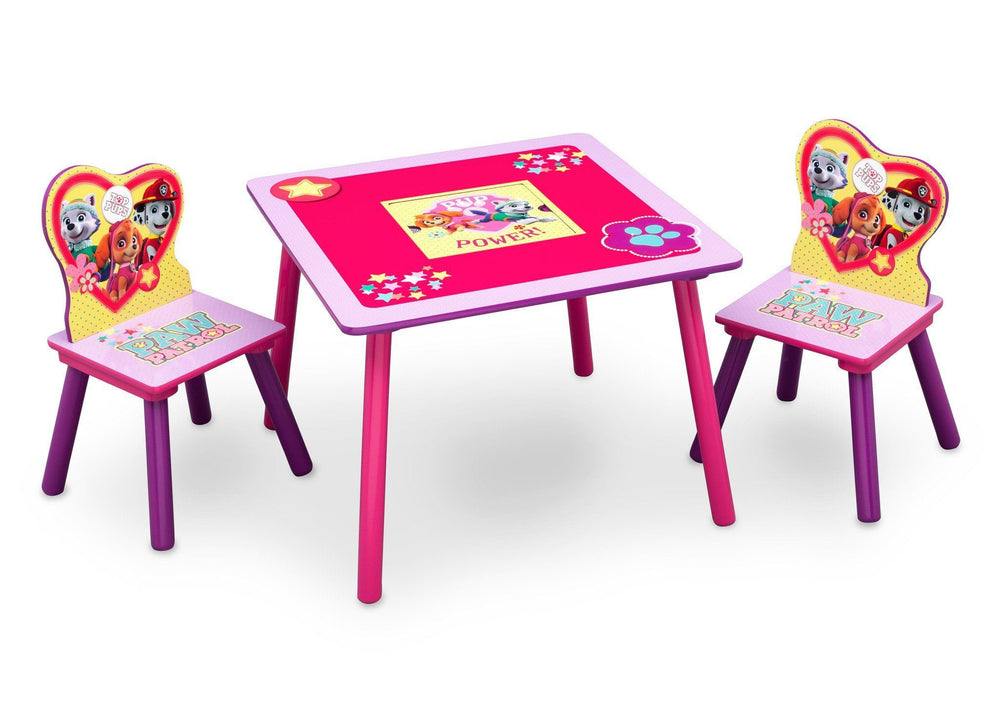 PAW Patrol, Skye & Everest Table and Chair Set with Storage, Right View a1a