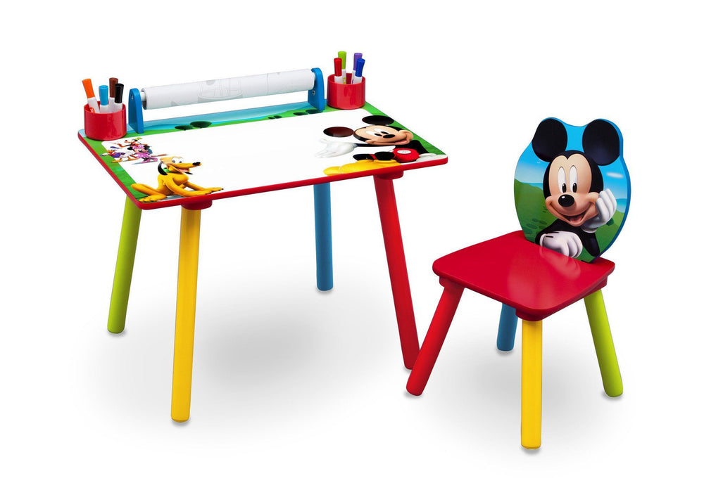 Mickey Mouse Art Desk With Paper Roll Delta Children