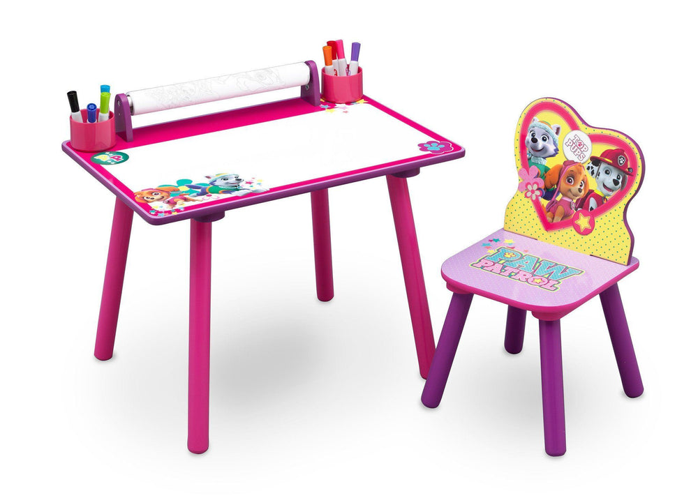 Pleasant Paw Patrol Skye Everest Art Desk With Paper Roll Creativecarmelina Interior Chair Design Creativecarmelinacom