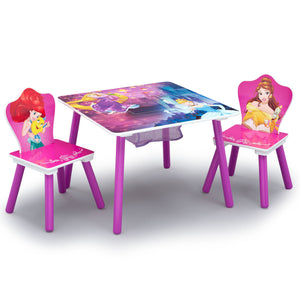 Princess Table and Chair Set With Storage