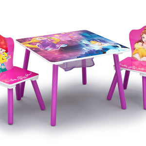 Disney Princess (1034) Table and Chair Set with Storage (TT89562PS), Table and Chair, a1a