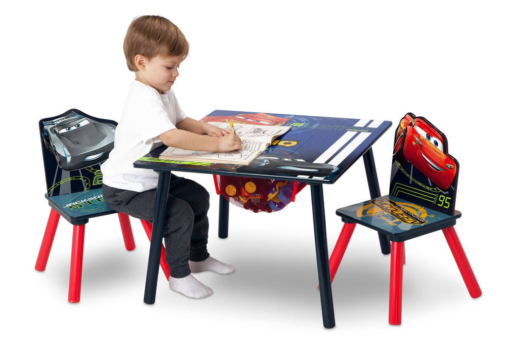 Delta Children Cars (1014) Table & Chair Set with Storage, Boy, a3a