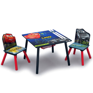 Cars Table & Chair Set with Storage