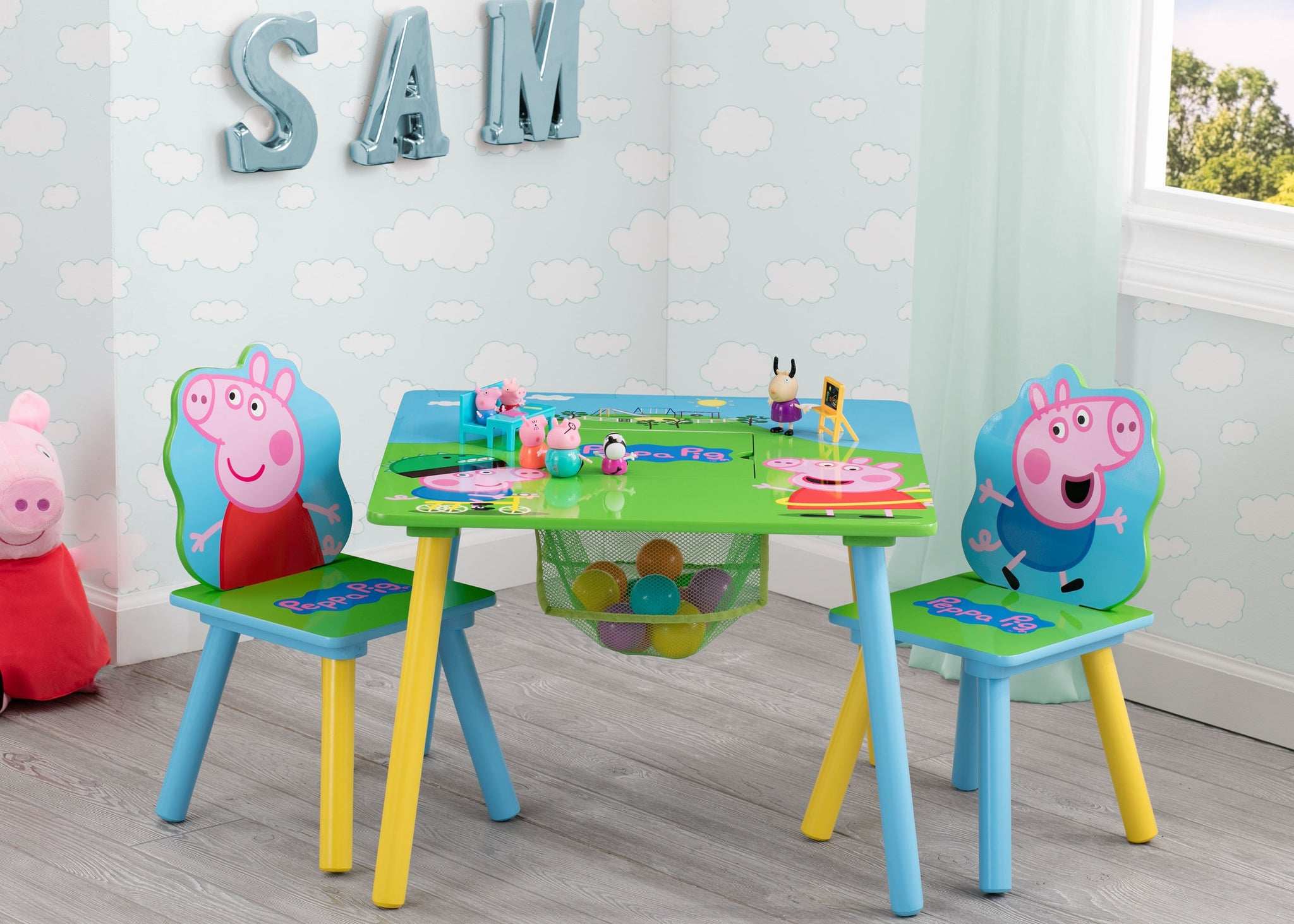 Delta Children Peppa Pig Table & Chair Set with Storage, Peppa Pig (1171)