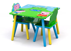 Delta Children Peppa Pig Table & Chair Set with Storage (TT89600PG-1171), a3a