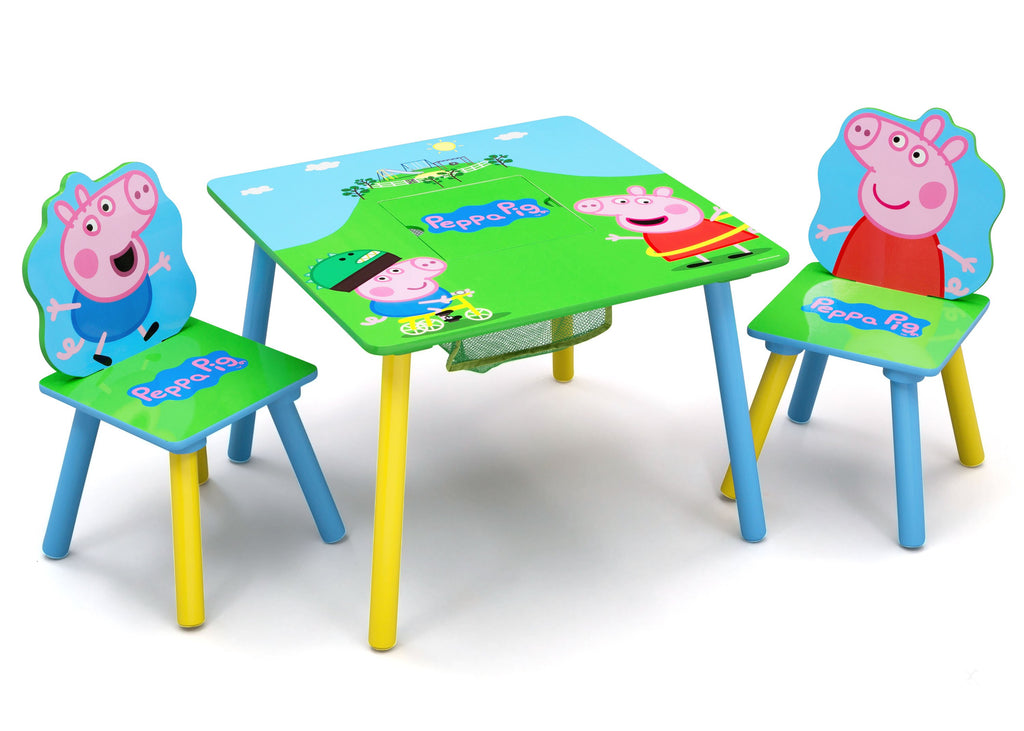 Delta Children Peppa Pig Table & Chair Set with Storage (TT89600PG-1171), a1a