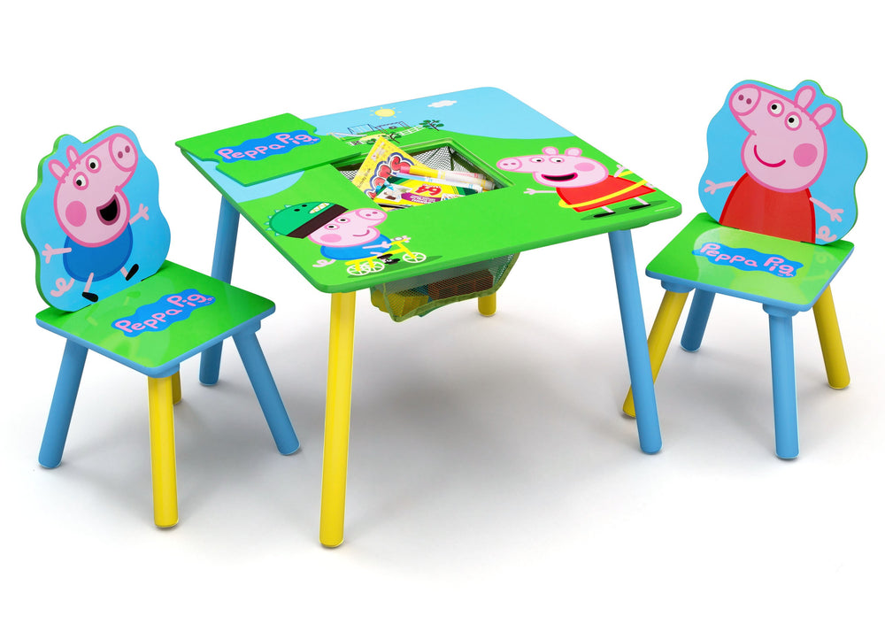 Delta Children Peppa Pig Table & Chair Set with Storage (TT89600PG-1171), a2a