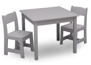 Delta Children Grey (026) MySize Table & Chairs Set, Right Angle, a2a