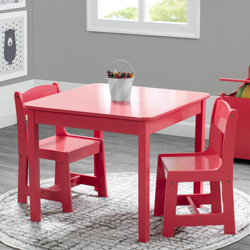 Delta Children Poppy Red (032C) MySize Table & Chairs Set, Room View