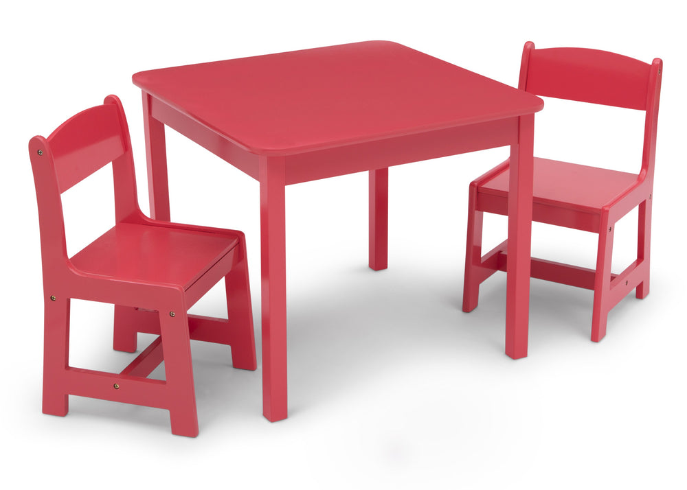 Delta Children Poppy Red (032C) MySize Table & Chairs Set, Right Silo View