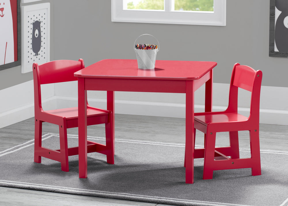 Delta Children Poppy Red (032C) MySize Table & Chairs Set, Hangtag View