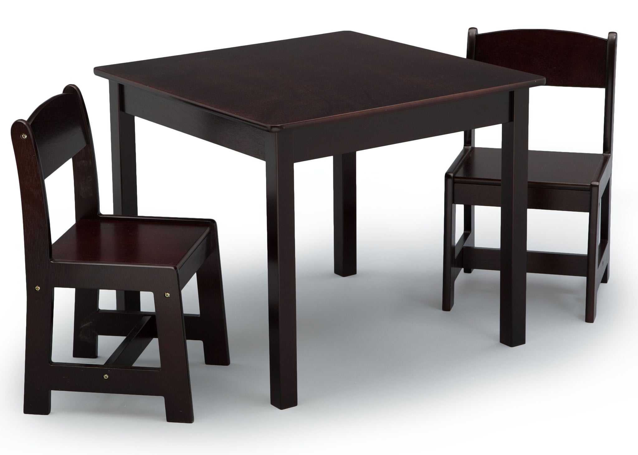 Delta Children Dark Chocolate (207) MySize Table & Chairs Set, Right Angle, c2c