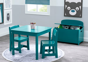 Delta Children Teal (7474C) MySize Table & Chairs Set, Room View