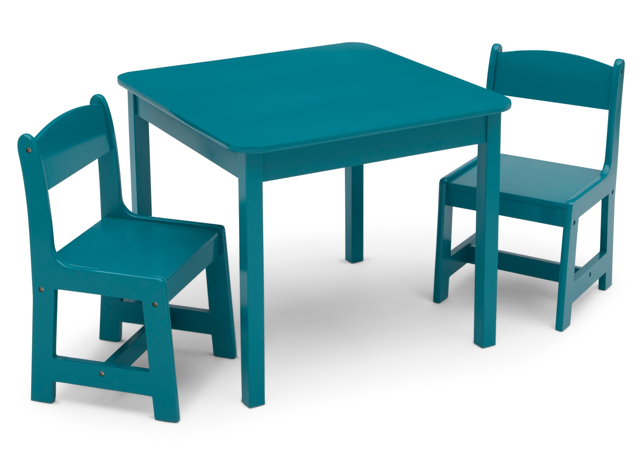 Delta Children Teal (7474C) MySize Table & Chairs Set, Right Silo View
