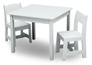 Delta Children Bianca White (130) MySize Table & Chairs Set, Left Angle, b3b