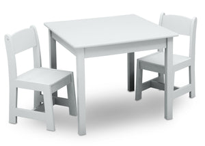 Delta Children Bianca White (130) MySize Table & Chairs Set, Right Angle, b2b